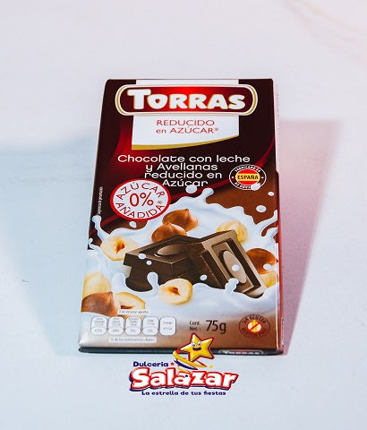 "CHOCOLATE LECHE Y AVELLANA -B.75G.- ""C/12/1"""