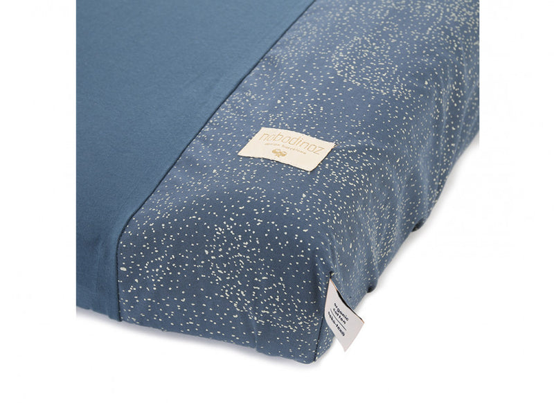 HOUSSE DE MATELAS À LANGER CALMA - GOLD BUBBLE / NIGHT BLUE