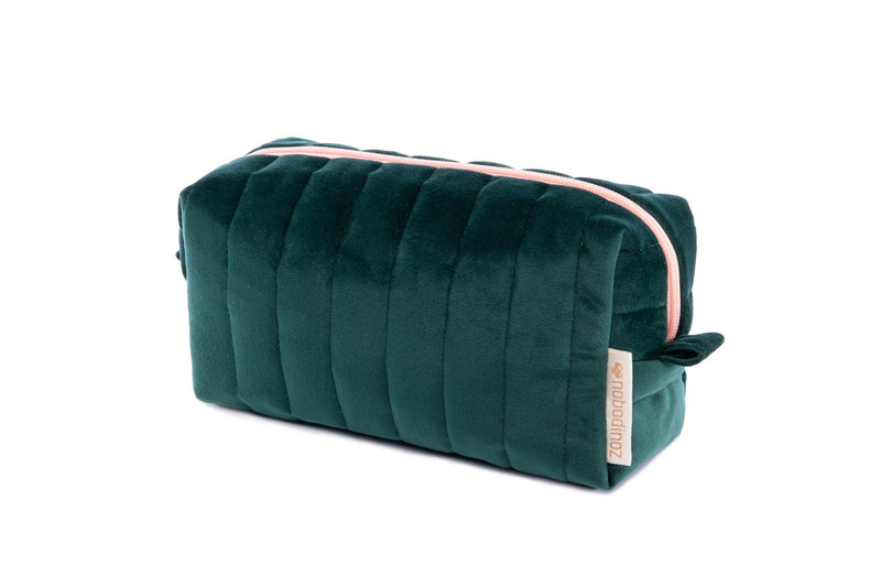 TROUSSE DE TOILETTE MATERNITÉ VELOURS SAVANNA - 20x9x8cm - GREEN