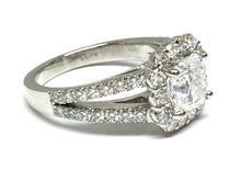 Load image into Gallery viewer, 3.30ctw Cushion Diamond Halo Ring GIA - Platinum
