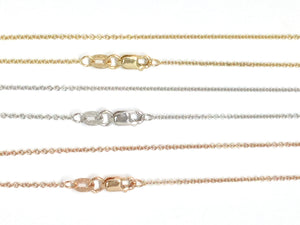 Cable Link Chain 1.3mm - White, Yellow, Rose Gold