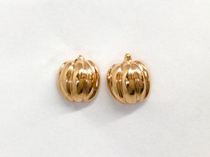 Pumpkin Small Stud Earrings - Rose Gold