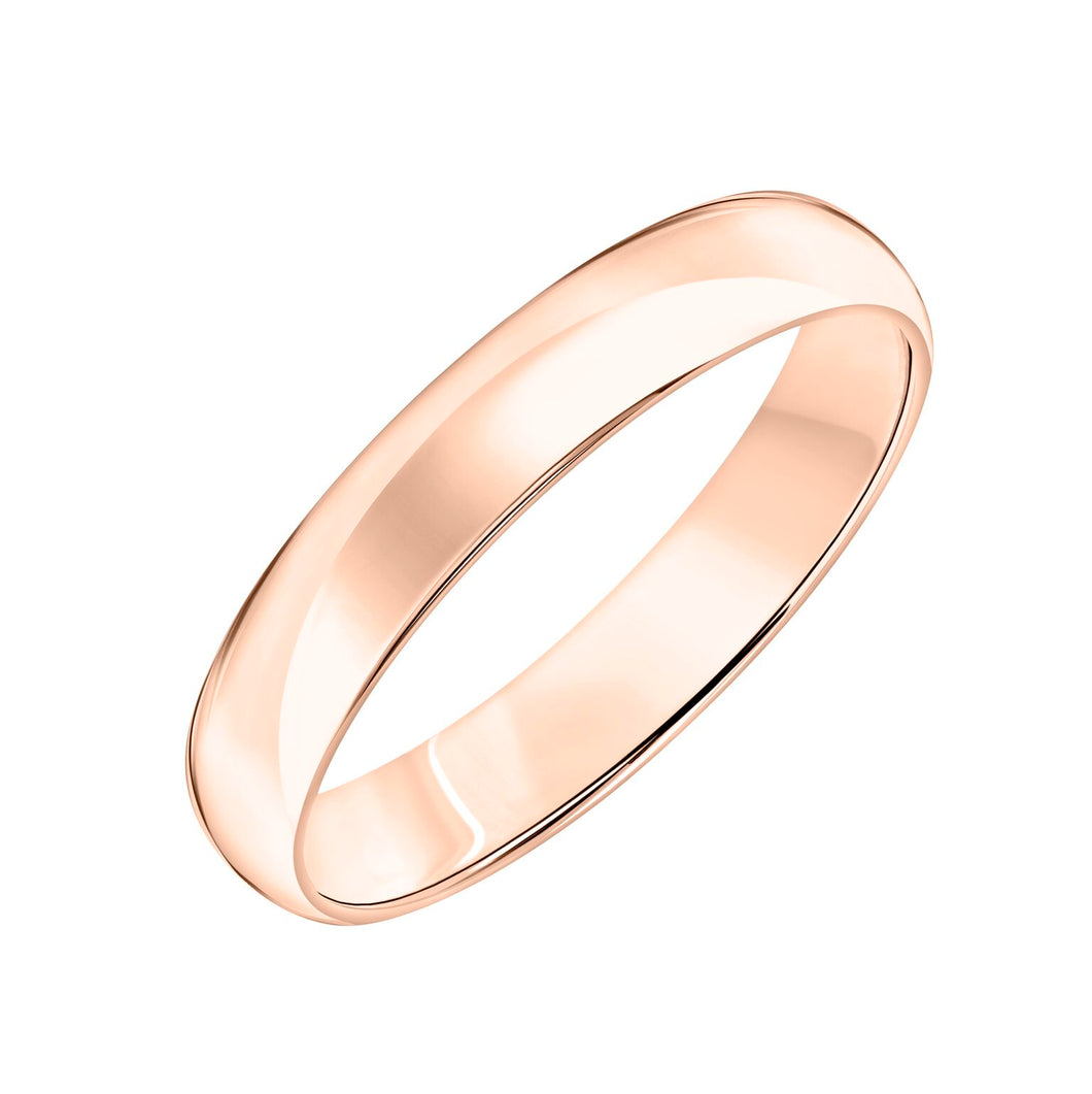 Low Dome Band 4mm - Rose Gold