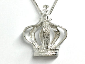 Charity IDES Crown Pendant - Silver