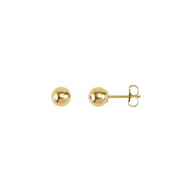 Ball Stud Earrings 5.0mm - Yellow Gold