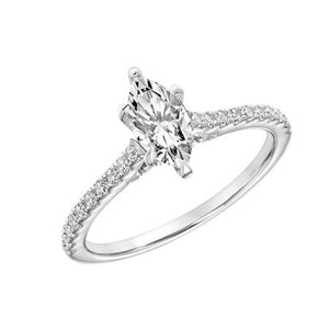 1.07ctw Marquise Diamond Ring GIA - White Gold