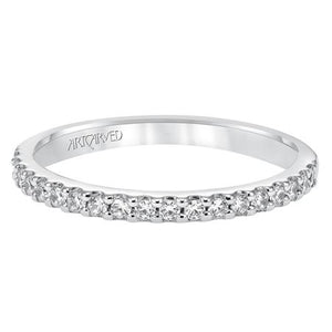 Classic Diamond Band - White Gold