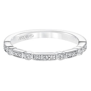 Deco Style Diamond Band - White Gold