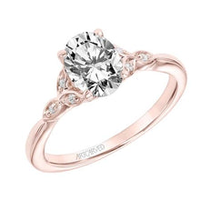Load image into Gallery viewer, 1.11ctw Oval Cut Diamond Ring GIA - Rose Gold