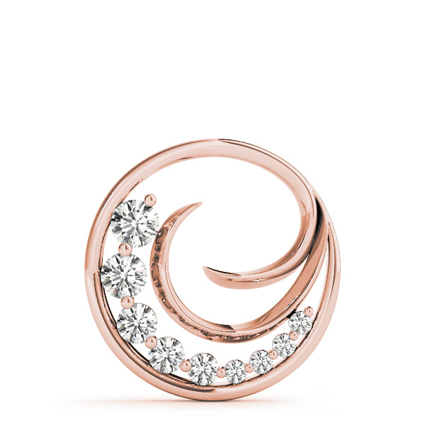 Journey/Wave Diamond Pendant - Rose Gold