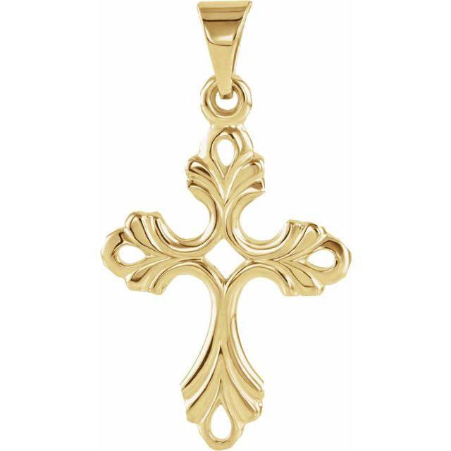 Cross Pendant - Yellow Gold