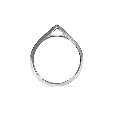 Apex Knife Edge Ring - Silver