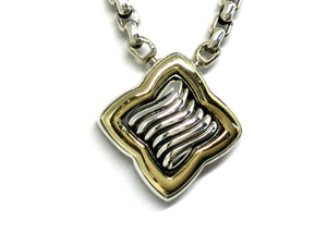 David Yurman Quatrefoil Necklace - Two Tone