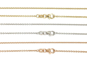 Cable Link Chain 1.5mm - White, Yellow, Rose Gold
