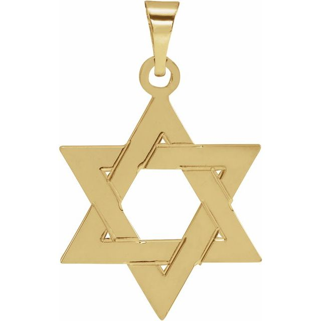 Star of David Pendant - Yellow Gold