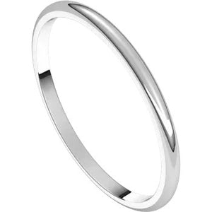 Half Round Band 1.5mm - White Gold