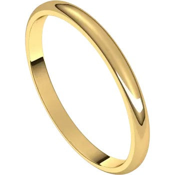 Half Round Band 2mm - Yellow Gold