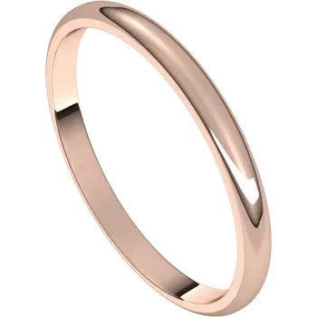 Half Round Band 2mm - Rose Gold