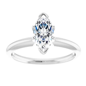 0.88ct Marquise Diamond Solitaire Ring GIA - White Gold