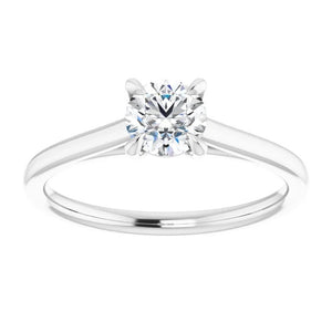 0.56ct Diamond Solitaire Ring - White Gold