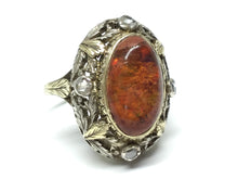 Load image into Gallery viewer, Opal & Diamond Victorian Era Ring - Two Tone