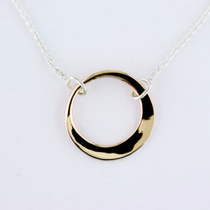 Little Ring Necklace - Two Tone