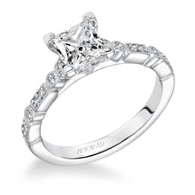 Load image into Gallery viewer, 1.13ctw Princess Cut Diamond Ring GIA - White Gold