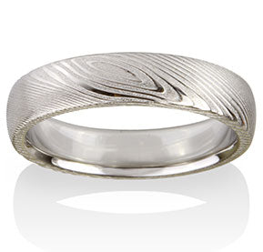 Pathways Pattern Damascus Steel Band