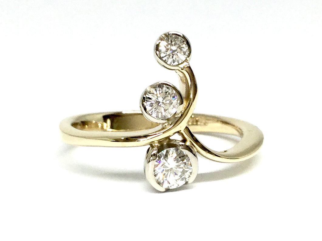 Leaf Ring - Two Tone