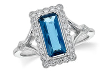 Load image into Gallery viewer, London Blue Topaz and Diamond Ring - White Gold