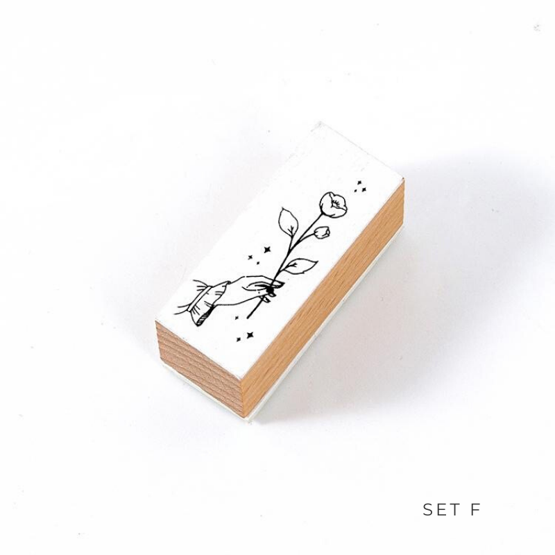 Peaceful Life Wooden Stamp
