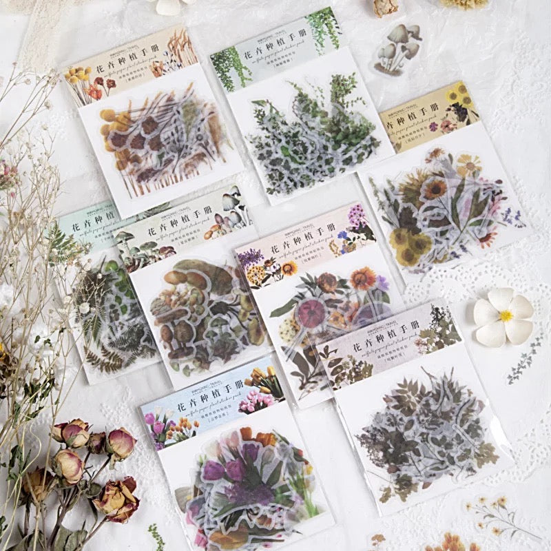 Vintage Flowers Sticker Set