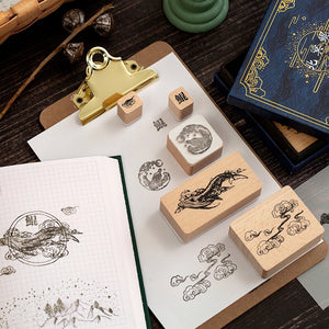 Mystic Universe Wooden Stamps - Set of 6