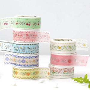Embroidered Forest Washi Tapes