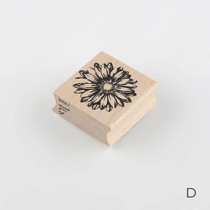 Pretty Plants Wooden Stamp