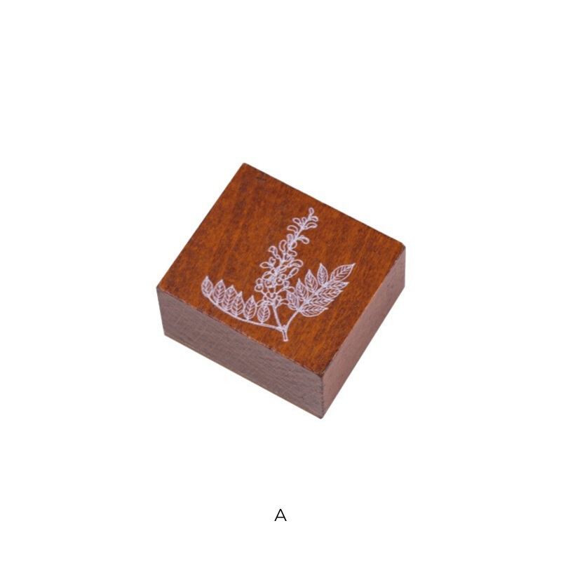 Herbaceous Plants Wooden Stamp