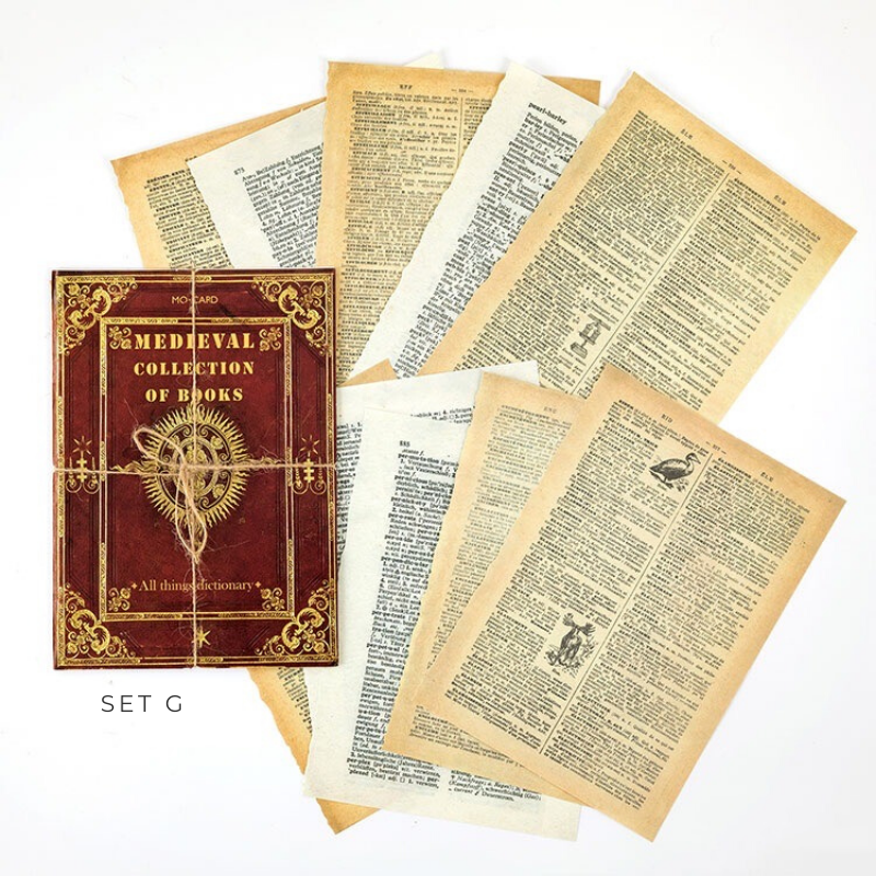 Medieval Books Decorative Papers