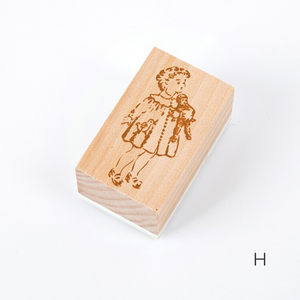 The Little Girl Wooden Stamp