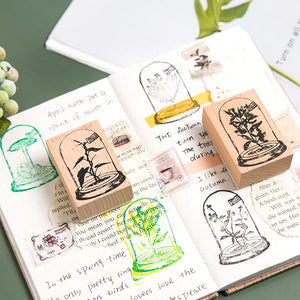 Glass Dome Wooden Stamp