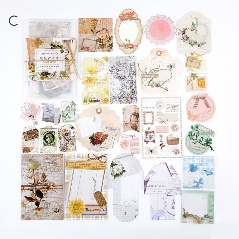 Classic Time Stickers & Decorative Papers Set