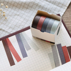 Pure Color Washi Tapes - Set of 5