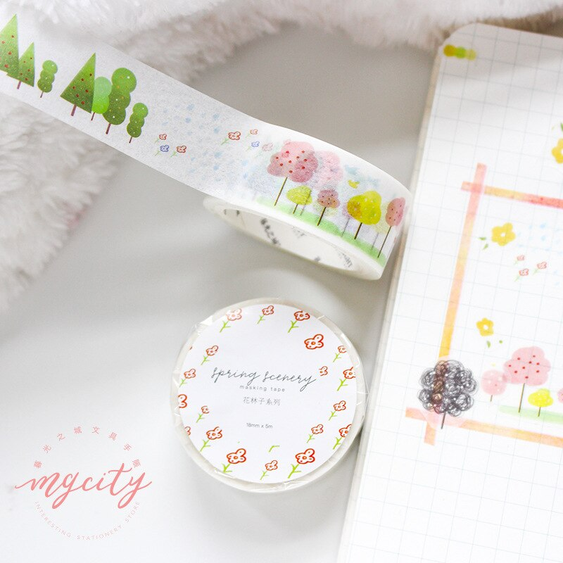 Paper Flower Washi Tapes