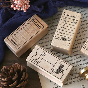 Time Notes Wooden Stamp