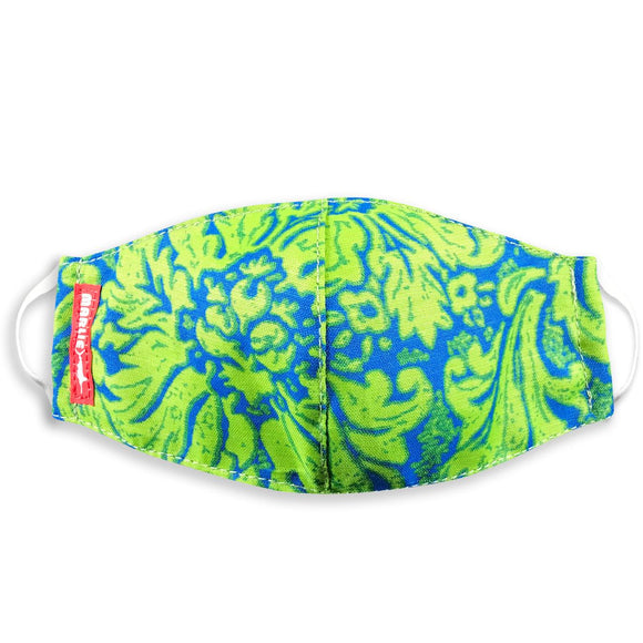 Blue Lime Hawaiian Mask