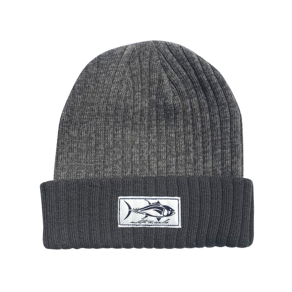Charcoal+White Two Colored Charcoal Beanie