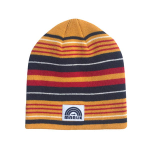 Gold Multi Striped Downhill Racer Beanie