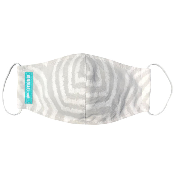 Grey and White Zebra Mask