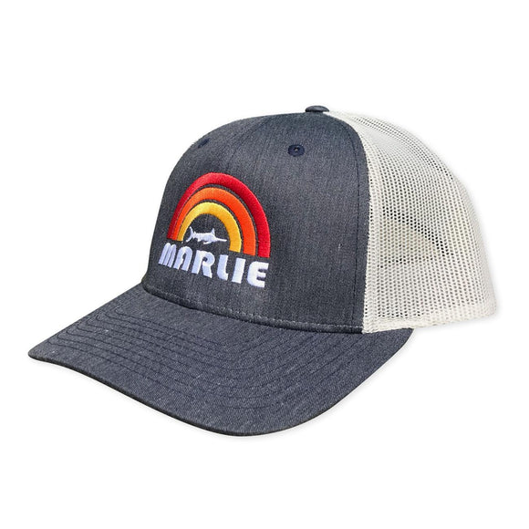 Heather Navy Marlie Rainbow Hat