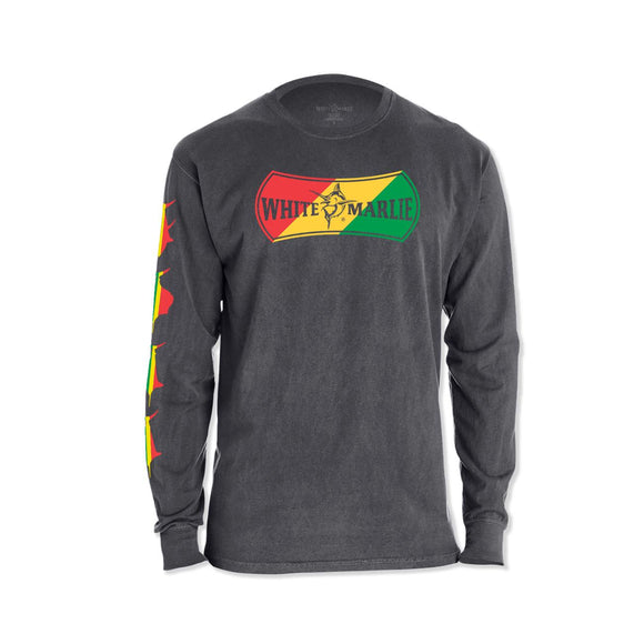 Rasta Long Sleeve Grey T-Shirt