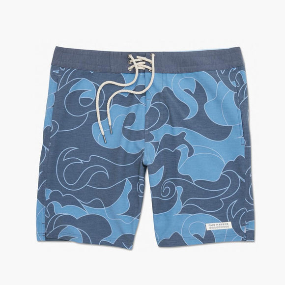 Retro Waves Nautilus Boardshort